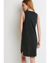Forever 21 | Black Mineral Wash Dress | Lyst
