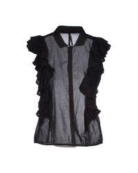 Manila Grace | Black Shirt | Lyst