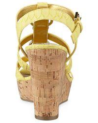 Marc Fisher - Yellow Genre Platform Wedge Sandals - Lyst