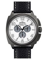 Shinola | Black 'the Brakeman' Chronograph Leather Strap Watch for Men | Lyst