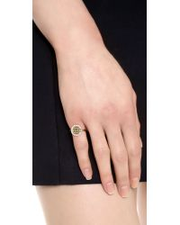 Elizabeth and James - Metallic Bauhaus Pyramid Stacking Pave Ring - Lyst
