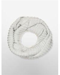 Calvin Klein | White Label Metallic Infinity Scarf | Lyst