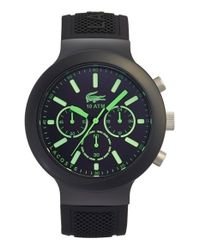 Lacoste | Black 'borneo' Chronograph Watch for Men | Lyst
