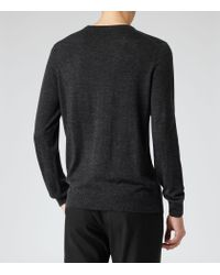 Reiss - Black Onyx Merino Wool Jumper for Men - Lyst