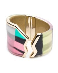 Alexis Bittar - Multicolor Silk Mosaic Jagged Brake Hinge You Might Also Like - Lyst