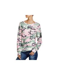 Wildfox | Pink Major Camouflage Sweatshirt - 100% Bloomingdale's Exclusive | Lyst