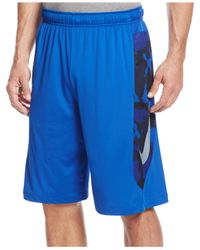 "Nike | Blue 10"" Hyperspeed Knit Camo Performance Shorts for Men 