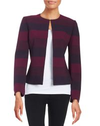 Tahari | Purple Striped Jacket | Lyst