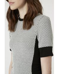 TOPSHOP - Gray Tall Geo Panel Bodycon Dress - Lyst