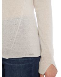 DIESEL - Gray M-nirvanas Cashmere Mix Knitted Jumper - Lyst