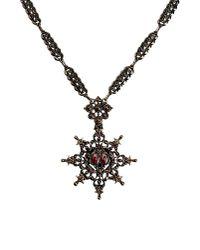 Alberta Ferretti - Metallic Necklace - Lyst