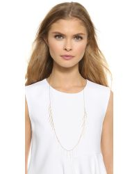 Gorjana - Metallic Marmont Fringe Necklace - Gold - Lyst