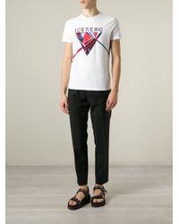 Iceberg - White Logo T-Shirt for Men - Lyst