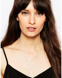 ASOS | Metallic Sterling Silver Triangle Pendant Necklace | Lyst
