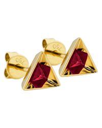 Ruifier - Red 'stella' Ruby Earrings - Lyst