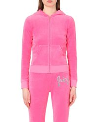 Juicy Couture | Pink Delmar Velour Hoody | Lyst