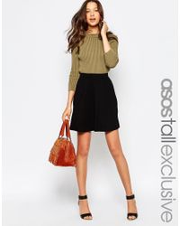 ASOS | Black Tall Skater Skirt With Pockets | Lyst