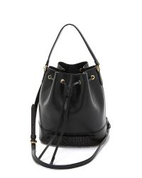 Moschino | Black Perforated Bucket Bag | Lyst