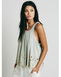 Free People | Green Womens Attina Top | Lyst