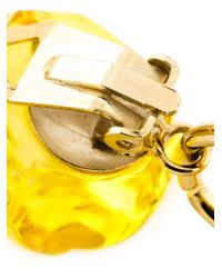 Moschino - Yellow Heart Clip On Earrings - Lyst