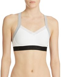 Calvin Klein | White Colorblock Convertible Sports Bra | Lyst