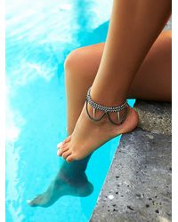 Free People | Metallic Heather Kahn Womens Chainmail Anklet | Lyst