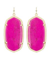 Kendra Scott | Purple Elle Earrings | Lyst