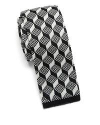 Saks Fifth Avenue | Gray Anonymous Ism Graphic Print Knit Cotton Tie for Men | Lyst