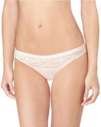 Calvin Klein | Pink Infinite Lace Bikini Cut Panty | Lyst
