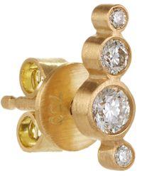 Sophie Bille Brahe | Metallic Diamond Gold Flacon Diamant Earring | Lyst