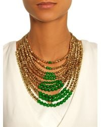 Rosantica By Michela Panero | Metallic Raissa Jade And Gold-Dipped Necklace | Lyst