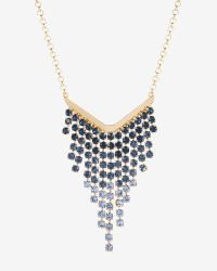 Ted Baker | Blue Crystal Drop Necklace | Lyst