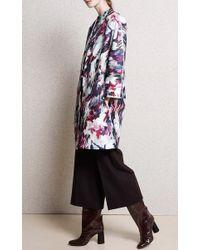 Carven - Brown Wide Leg Cropped Wool Trouser - Lyst