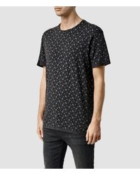 AllSaints | Black Salix Crew T-shirt for Men | Lyst