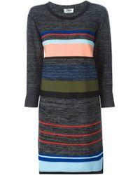 Sonia by Sonia Rykiel - Black Striped Knitted Dress - Lyst