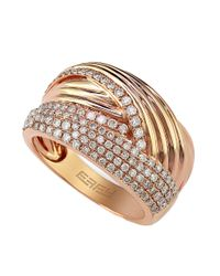 Effy | Pink Diamond And 14k Rose Gold Ring, 0.74 Tcw | Lyst