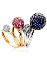 Astley Clarke - Pink Large Naiya Ball Ring - Lyst