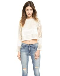 d.RA | Natural Riverland Crop Top - White | Lyst