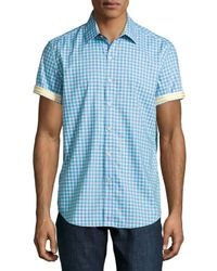 Robert Graham | Blue Double Decker Patterned Sport Shirt (men) for Men | Lyst