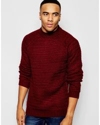Native Youth | Red Oversized Stitch Jumper for Men | Lyst