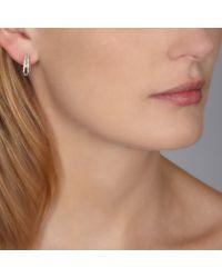 Astley Clarke - Metallic Diamond Double Hoop Earrings - Lyst