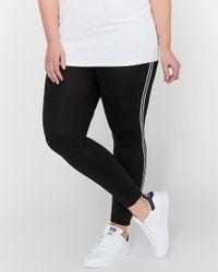 Addition Elle - Black Legging With Cuff & Sporty Stripe - Lyst