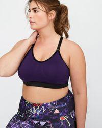 Addition Elle Purple Nola Bralette With Racer-back