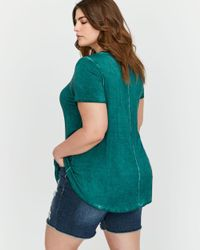 Addition Elle - Green L&l Front Cut & Sewn Swing Top - Lyst