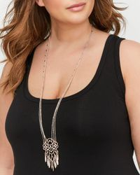 Addition Elle - Metallic Filigree Muti Chain Necklace - Lyst