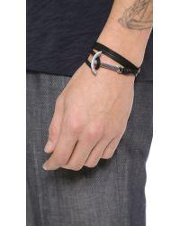 Miansai - Black Modern Anchor Wrap Bracelet for Men - Lyst