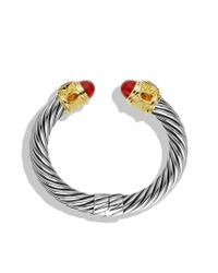David Yurman - Metallic Renaissance Bracelet with Carnelian Garnet and Gold - Lyst