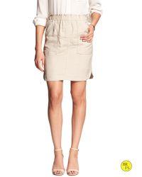 Banana Republic | Natural Factory Linen-blend Mini Skirt | Lyst