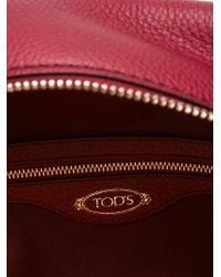 Tod's - Red Medium Shopping Tote - Lyst