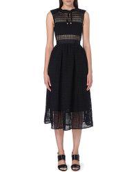 e827ecbb817a Self-Portrait Freya Embroidered Dress in Black - Lyst